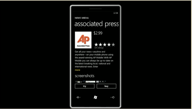 Windows Phone 7 Series Marketplace Showcased, Detailed