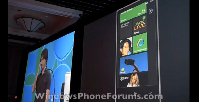 Windows Phone 7 Series Game Hub Video Demonstration
