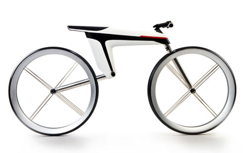 Carbon fiber electric bike uses frame instead of wires to conduct power