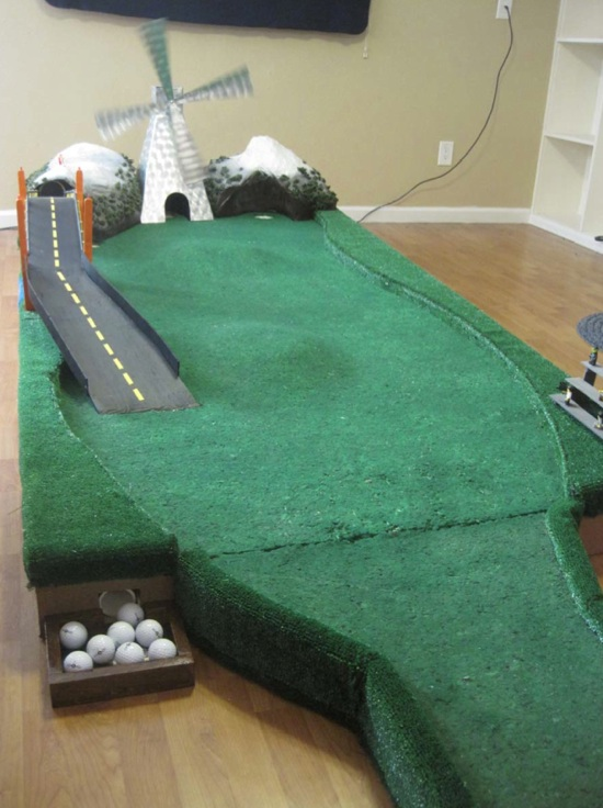 Diy Geek Golf Variable Putting Green Wooden 9 Hole Course