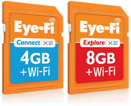 Eye-Fi Connect X2 and Explore X2 get WiFi-n