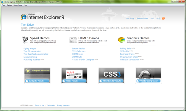 Internet Explorer 9 Platform Preview revealed: GPU-accelerated HTML5, new JavaScript engine, more
