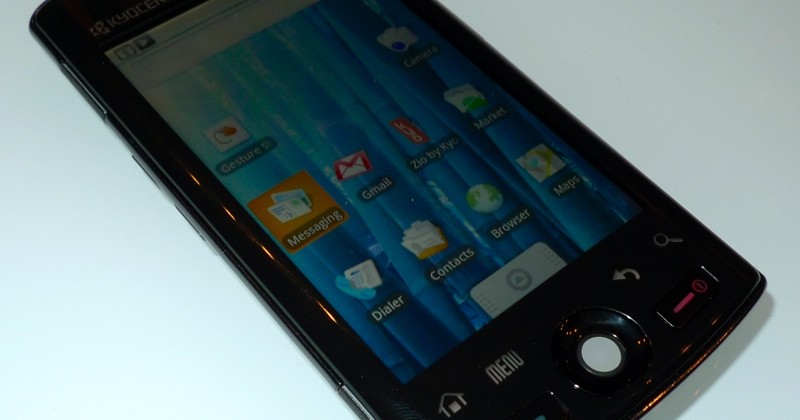 Kyocera ZIO Hands-On Video: Thin, Android 1.6 for Cheap Price Tag