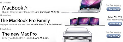 MacBook Pro, Air, and Mac Pro updated prices leak in ads?