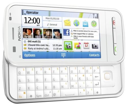 Nokia C6 touchscreen QWERTY slider leaks