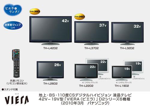 Panasonic unveils new Vieira D2 Series 6 IPS LCD panel LCD HDTVs in Japan