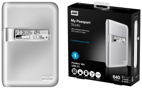 Western Digital My Passport Studio HDD gets E-Ink status display