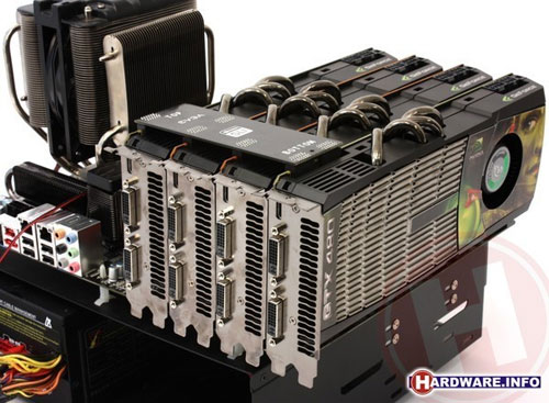 Another NVIDIA GTX 480 quad SLI test surfaces