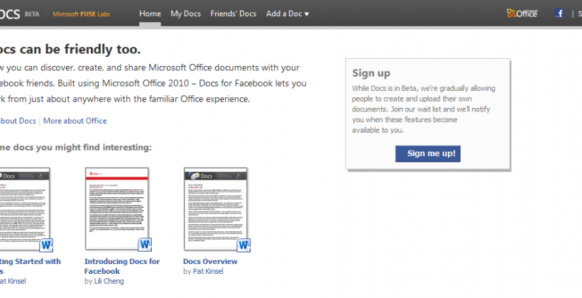 Microsoft and Facebook Working on Ousting Google Docs