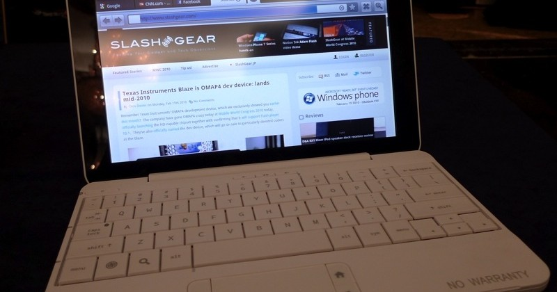 HP Compaq Airlife 100 smartbook US launch tipped by product page