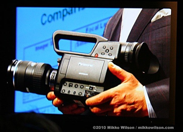 Panasonic AG-AF100 micro four thirds HD camcorder outed