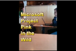 Microsoft Pink Turtle Handset Caught in the Wild [video]