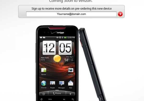 Verizon confirm Droid Incredible by HTC preorders April 29th