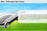 Volkswagen App My Ride Contest Asks Developers to Create Apps for Vehicle Systems