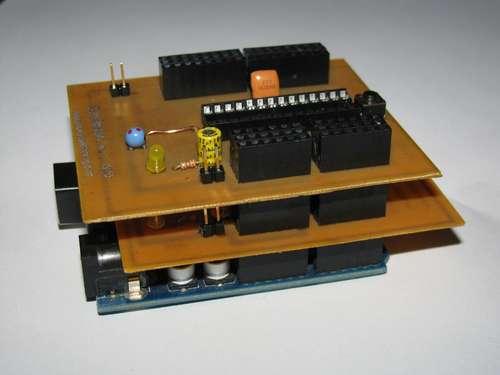 Core2duino triple-stacks Arduino for three CPU madness