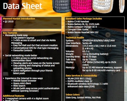 Nokia C3, C6 and E5 QWERTY phones unveiled - SlashGear