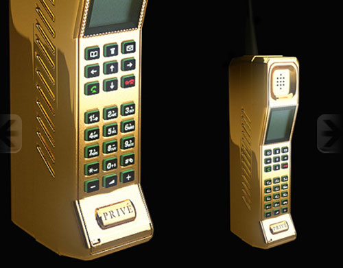 Prive gold and diamond encrusted phone is straight from the 80's