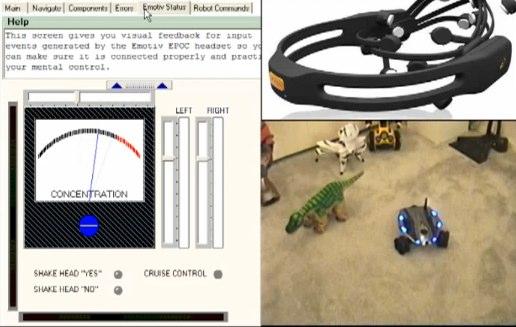 WowWee Rovio gets mind control with Emotiv headset [Video]