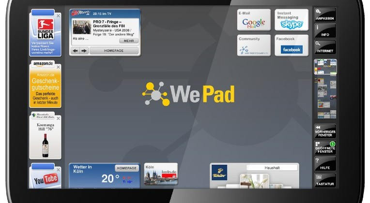 WePad Android tablet detailed: €449 from July