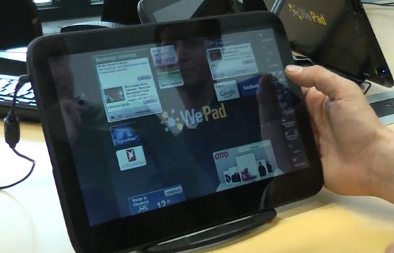 WePad hands-on demos: it's real, it works