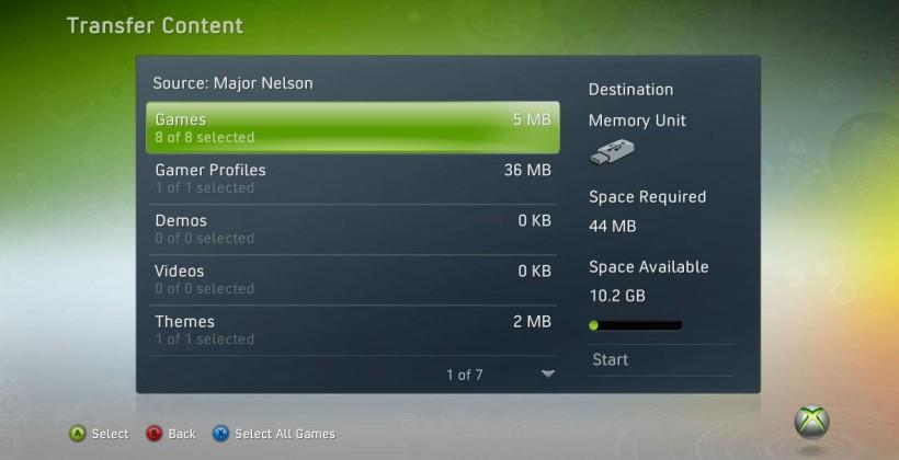 Xbox 360 USB storage update arrives today