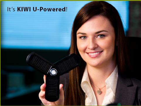 Kiwi U-Powered Solar Portable Charger Makes Charging on the Go Easier
