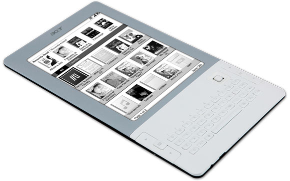 Acer LumiRead ereader: WiFi, ISBN scanner & QWERTY