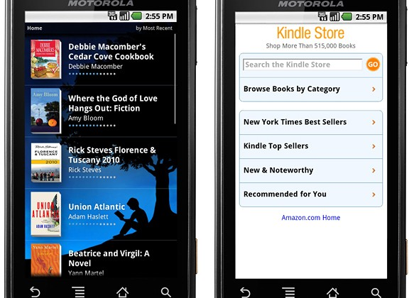 Amazon Kindle for Android app due summer 2010