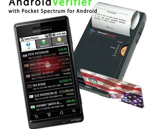 Android Verifier Pocket Spectrum Plus Bluetooth Printer And Credit Card Scanner Debuts Slashgear