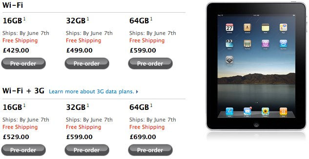 International iPad preorders now shipping June 7th