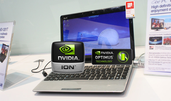 ASUS Eee PC 1215N: dual-core 1.5GHz Atom, NVIDIA Ion, Optimus & July release?