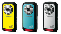 Toshiba unveils new Camileo BW10 waterproof camcorder