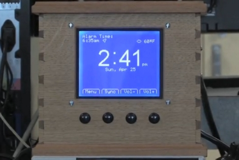 Intelligent DIY alarm clock auto-sets based on your Google