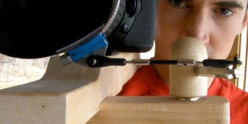 DIY wooden shoulder rig for DSLR movies rocks