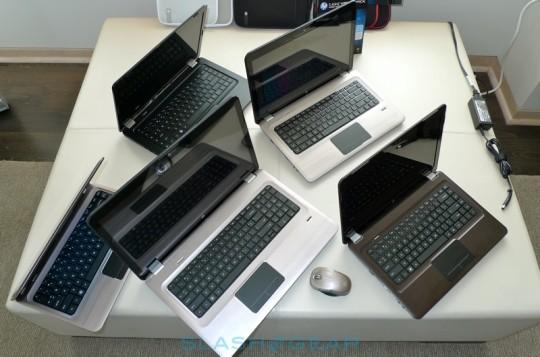 HP ENVY 17 and Pavilion dm4, dv5, dv6 and dv7 hit retail