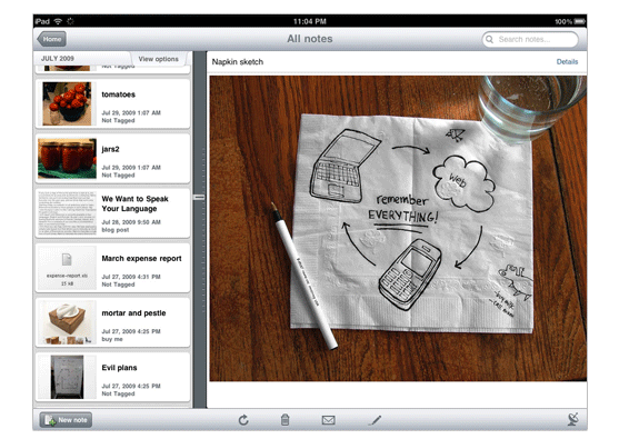 Evernote considering digital ink, handwriting recognition for iPad