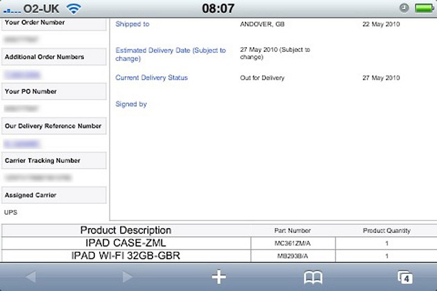 UK iPad preorders being delivered today [Update: Italy too]