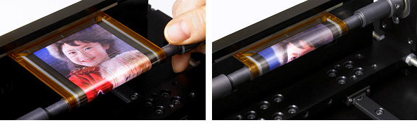 Sony demo rollable printed OLED display [Video]