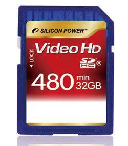 Silicon Power unveils new SDHC card for HD video recording