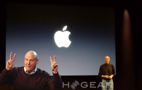 "Steve Ballmer on-stage at WWDC 2010 predicts analyst; Apple have ""little room for surprise"" reckons rival"