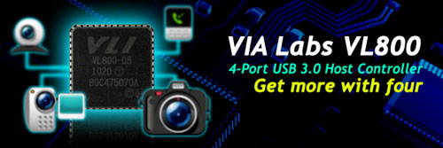 VIA Labs to show off VL800 4-port USB 3.0 host controller at Computex