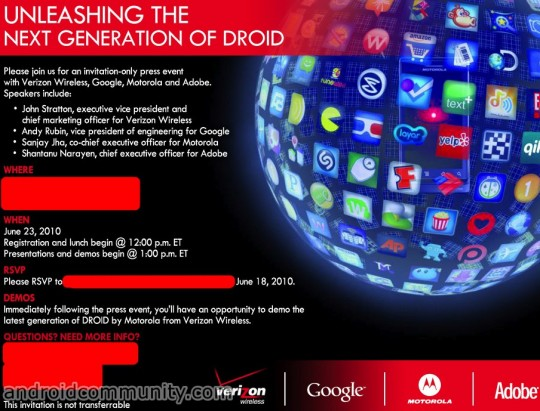 Verizon Wireless Announcing Latest Generation of DROID on June 23rd [Update]