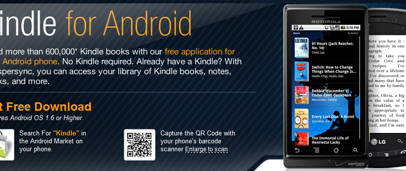 Amazon Kindle for Android Now Available