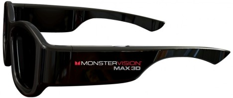 Monster's Monster Vision Max 3D Universal Glasses Work With All Kinds of 3D HDTVs