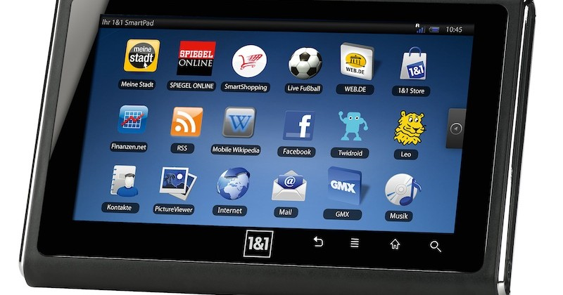 1&1 SmartPad Android tablet drops in Germany