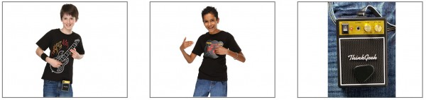 ThinkGeek Kids Electronic Guitar & Drum Kit Shirts Released