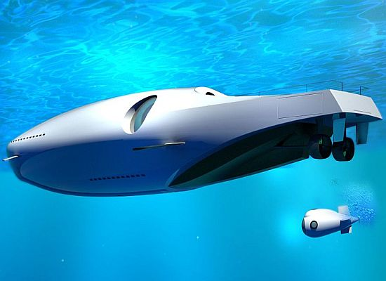 Yacht Turns Into a Submarine