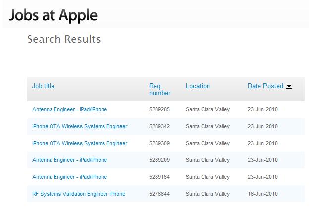 Apple antenna engineer job listings fuel controversy