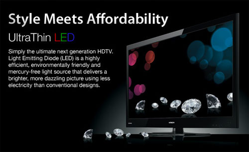 Hitachi unveils 2010 line of LED and CCFL HDTVs