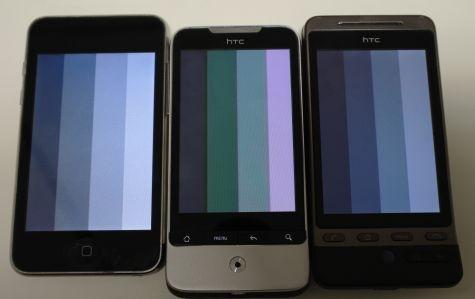 HTC's AMOLED Legend display botching grayscale?